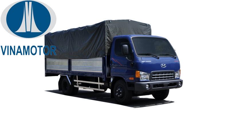 Xe tải HD700 Đồng Vàng Thùng Mui Bạt 7 Tấn